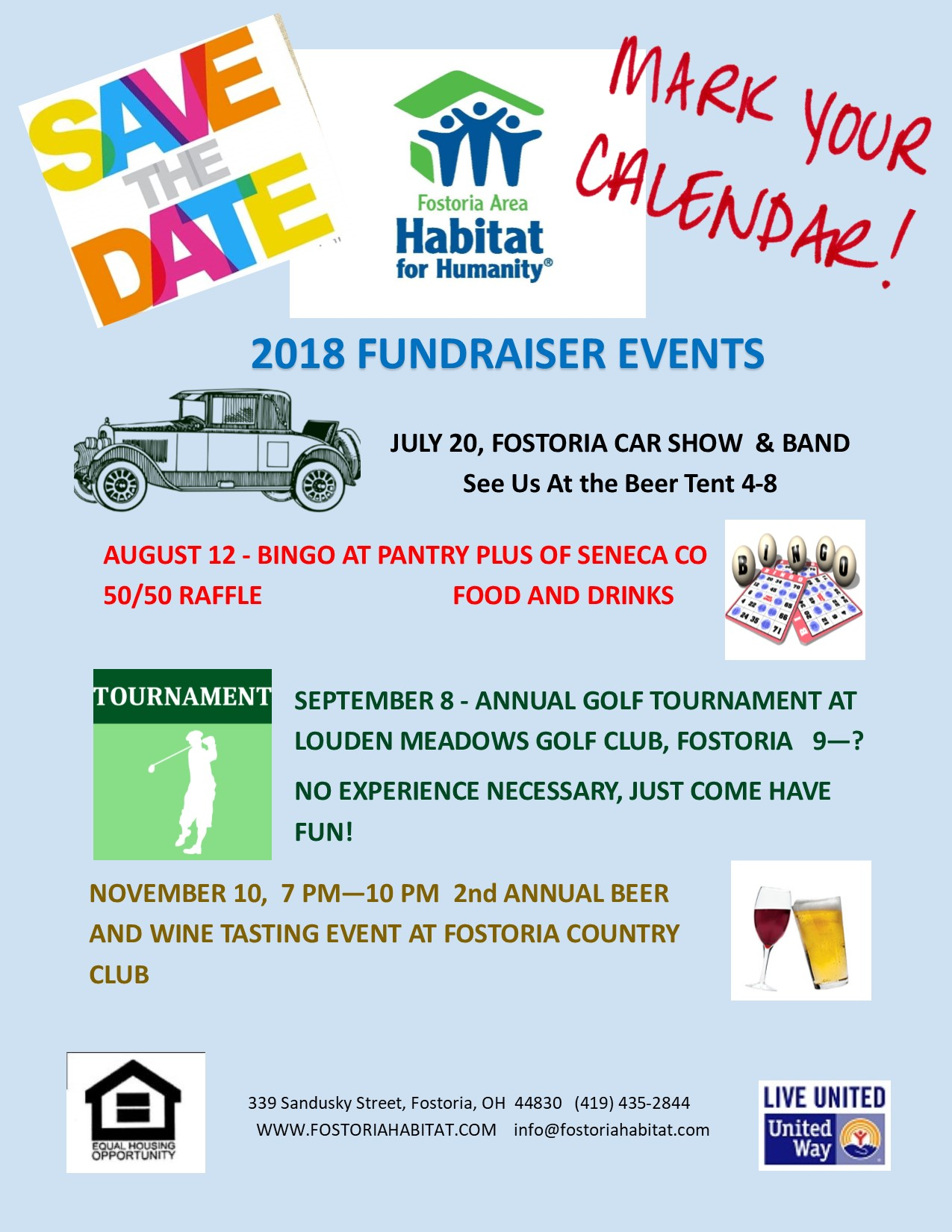 save the date upcoming events fostoria habitat for